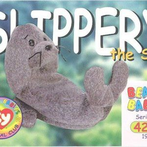 TY Beanie Babies Collection Slippery the Seal